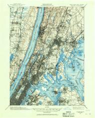 Harlem, New Jersey 1897 (1967) USGS Old Topo Map 15x15 NJ Quad