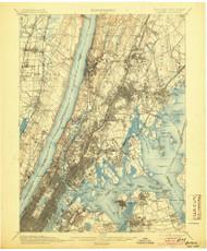 Harlem, New Jersey 1900 (1905) USGS Old Topo Map 15x15 NJ Quad
