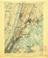 Harlem, New Jersey 1900 (1907) USGS Old Topo Map 15x15 NJ Quad