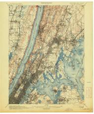 Harlem, New Jersey 1900 (1913) USGS Old Topo Map 15x15 NJ Quad