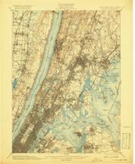 Harlem, New Jersey 1900 (1919) USGS Old Topo Map 15x15 NJ Quad