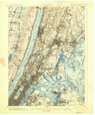 Harlem, New Jersey 1900 (1925) USGS Old Topo Map 15x15 NJ Quad