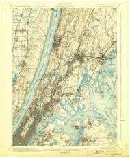 Harlem, New Jersey 1900 (1928) USGS Old Topo Map 15x15 NJ Quad
