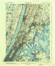 Harlem, New Jersey 1900 (1938) USGS Old Topo Map 15x15 NJ Quad