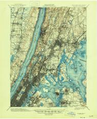 Harlem, New Jersey 1900 (1946) USGS Old Topo Map 15x15 NJ Quad