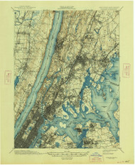Harlem, New Jersey 1900 (1948) USGS Old Topo Map 15x15 NJ Quad