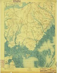 Little Egg Harbor, New Jersey 1893 (1899) USGS Old Topo Map 15x15 NJ Quad