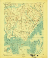 Little Egg Harbor, New Jersey 1893 (1914) USGS Old Topo Map 15x15 NJ Quad
