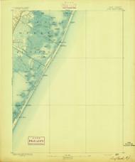 Long Beach, New Jersey 1893 USGS Old Topo Map 15x15 NJ Quad