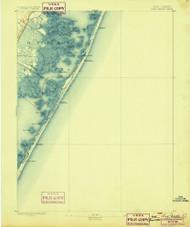 Long Beach, New Jersey 1893 (1899) USGS Old Topo Map 15x15 NJ Quad