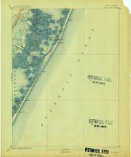Long Beach, New Jersey 1893 (1913) USGS Old Topo Map 15x15 NJ Quad