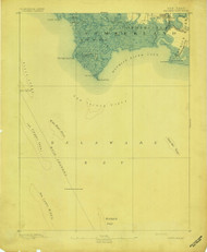 Maurice Cove, New Jersey 1891 USGS Old Topo Map 15x15 NJ Quad
