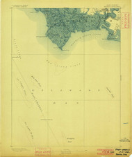 Maurice Cove, New Jersey 1891 (1900) USGS Old Topo Map 15x15 NJ Quad
