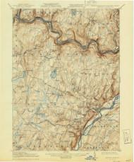 Milford, New Jersey 1915 (1944) USGS Old Topo Map 15x15 NJ Quad