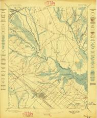 Mullica, New Jersey 1898 USGS Old Topo Map 15x15 NJ Quad
