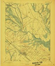 Mullica, New Jersey 1898 (1912) A USGS Old Topo Map 15x15 NJ Quad