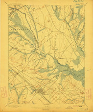 Mullica, New Jersey 1898 (1912) B USGS Old Topo Map 15x15 NJ Quad