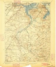 New Brunswick, New Jersey 1901 USGS Old Topo Map 15x15 NJ Quad