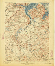 New Brunswick, New Jersey 1901 (1913) USGS Old Topo Map 15x15 NJ Quad