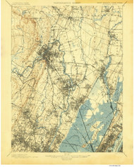 Paterson, New Jersey 1900 A USGS Old Topo Map 15x15 NJ Quad