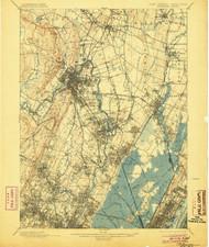 Paterson, New Jersey 1903 (1904) USGS Old Topo Map 15x15 NJ Quad