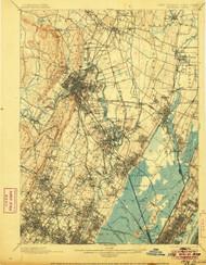 Paterson, New Jersey 1903 (1906) USGS Old Topo Map 15x15 NJ Quad