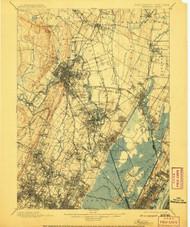 Paterson, New Jersey 1903 (1908) USGS Old Topo Map 15x15 NJ Quad