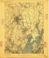 Paterson, New Jersey 1903 (1911) USGS Old Topo Map 15x15 NJ Quad