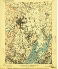 Paterson, New Jersey 1903 (1915) USGS Old Topo Map 15x15 NJ Quad