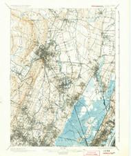 Paterson, New Jersey 1903 (1924) USGS Old Topo Map 15x15 NJ Quad
