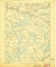 Pemberton, New Jersey 1898 (1903) USGS Old Topo Map 15x15 NJ Quad