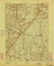 Ramapo, New Jersey 1893 A USGS Old Topo Map 15x15 NJ Quad
