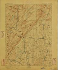 Ramapo, New Jersey 1893 B USGS Old Topo Map 15x15 NJ Quad