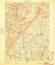 Ramapo, New Jersey 1893 (1905) USGS Old Topo Map 15x15 NJ Quad