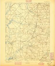 Salem, New Jersey 1890 (1895) USGS Old Topo Map 15x15 NJ Quad