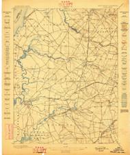 Salem, New Jersey 1898 USGS Old Topo Map 15x15 NJ Quad