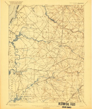 Salem, New Jersey 1898 (1921) USGS Old Topo Map 15x15 NJ Quad