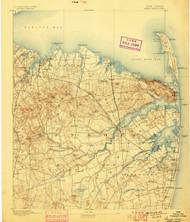 Sandy Hook, New Jersey 1893 (1898) USGS Old Topo Map 15x15 NJ Quad