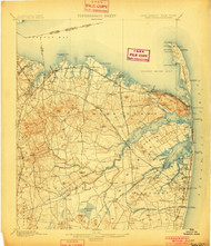 Sandy Hook, New Jersey 1901 USGS Old Topo Map 15x15 NJ Quad