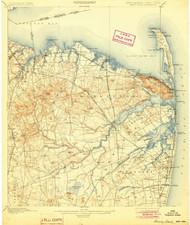 Sandy Hook, New Jersey 1901 (1904) USGS Old Topo Map 15x15 NJ Quad