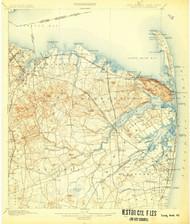 Sandy Hook, New Jersey 1901 (1907) USGS Old Topo Map 15x15 NJ Quad