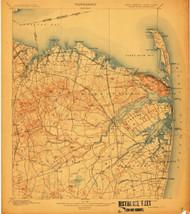 Sandy Hook, New Jersey 1901 (1912) USGS Old Topo Map 15x15 NJ Quad