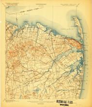 Sandy Hook, New Jersey 1901 (1919) USGS Old Topo Map 15x15 NJ Quad