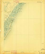 Sea Isle, New Jersey 1894 USGS Old Topo Map 15x15 NJ Quad