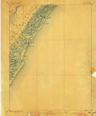 Sea Isle, New Jersey 1894 (1900) USGS Old Topo Map 15x15 NJ Quad