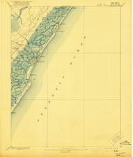 Sea Isle, New Jersey 1894 (1912) USGS Old Topo Map 15x15 NJ Quad