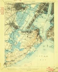 Staten Island, New Jersey 1900 (1902) USGS Old Topo Map 15x15 NJ Quad