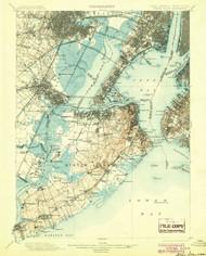 Staten Island, New Jersey 1900 (1904) USGS Old Topo Map 15x15 NJ Quad