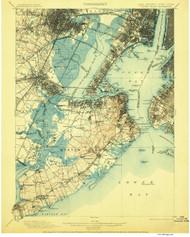 Staten Island, New Jersey 1900 (1906) B USGS Old Topo Map 15x15 NJ Quad