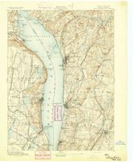 Tarrytown, New Jersey 1893 USGS Old Topo Map 15x15 NJ Quad